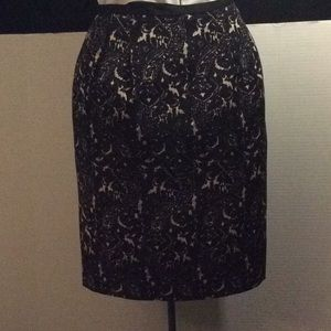 Talbots, Black & White pleated straight skirt # 6